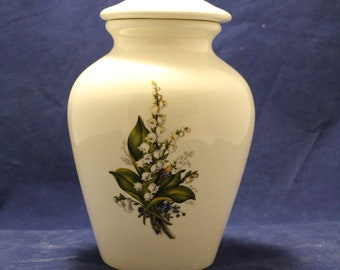 Lily of theValley large Cremation Urn, Adult Urn for Human Ashes