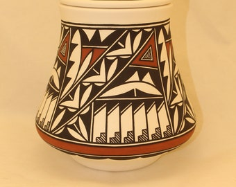 Native American Hummingbird Adult Urn for Human Ashes, Large Hand Painted Cremation Urn, Native Art pottery, handmade