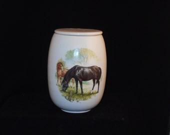 Horse Cremation Urn, Ceramic Jar with Lid, Adult Cremation Urn, Large Urn, Urn for Ashes, Large Pet Urn, Large jar, art pottery, handmade