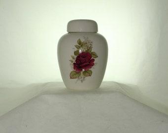 Ceramic Jar with Lid  Cremation Urn, Baby or Infant Urn, Keepsake Urn,  Pet Ashes Urn, Art Pottery, Handmade Urn