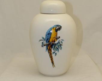 Adult Cremation Urn, Large Ceramic Jar with Lid, Large Urn for Ashes,Art Pottery, Handmade Urn