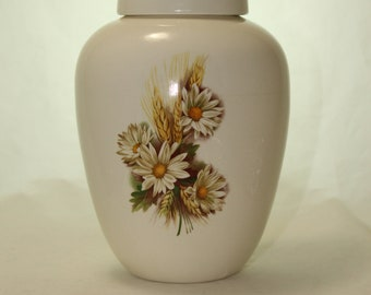 Ceramic Jar with Llid Cremation Urn, Medium Jar with lid, Keepsake Urn, Pet Urn, art pottery, Handmade Ashes Container