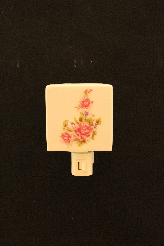 Pink Rose Plug-In Light