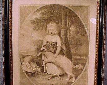Lady Georgiana Cavendish Morpeth Framed Stipple Engraving 1785