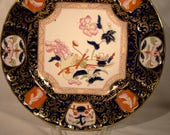 Hand Painted Ashworth Imari Ironstone Dinner Plate 1899