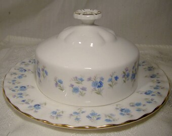 Royal Albert Memory Lane Butter Dish with Underplate