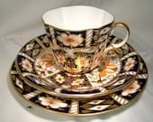 Royal Crown Derby 2451 OLD IMARI Trio Tea Cup Bread Butter Plate Saucer