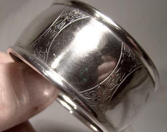 Roden Birks Engraved Sterling Silver Napkin Ring 1910