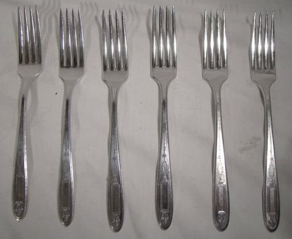 """4 Dinner Forks GROSVENOR Oneida Silverplate Flatware 7-3//4/"""""""