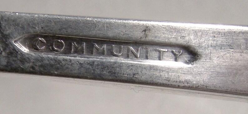 4 Community Morning Star 6-38 Silver Plated Dessert Forks 1948