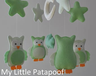 Baby Mobile - Owls