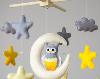 Baby Mobile - Moon and owl