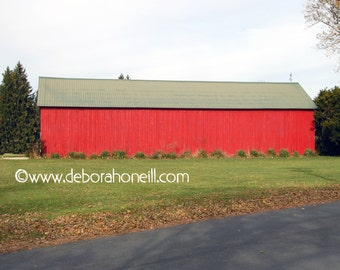 "Barn Photography ""Red Christmas Barn"""