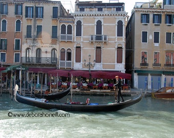 "Venice Photography ""Venice Gondola on the Move"""