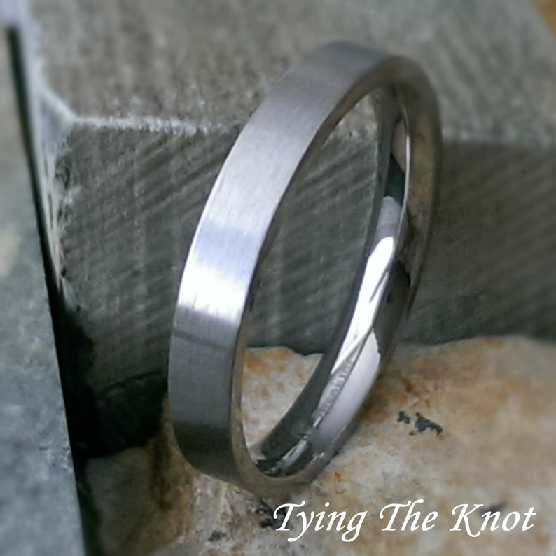 Brushed Titanium Wedding Band, Mens Wedding Band, Silver Titanium Wedding  Band, Personalized Engraving, Promise Ring, AZ23