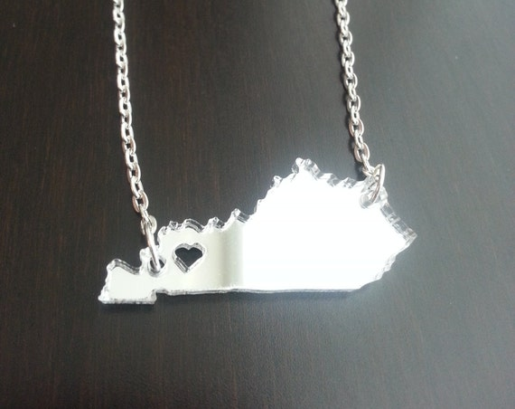 Personalized!  Acrylic State Cutout Necklace - Kentucky or any state