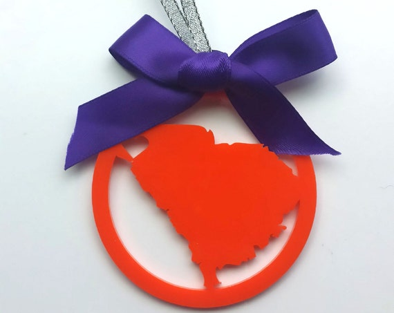 CLEMSON South Carolina (or any state) Christmas Ornament