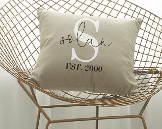 Monogram Pillow Covers, Family Pillow Covers, Last Name Pillow Covers