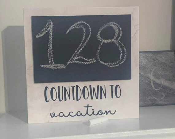 Personalized Countdown Chalkboard