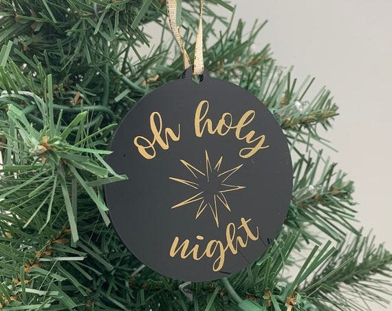 Oh Holy Night Christmas Ornament
