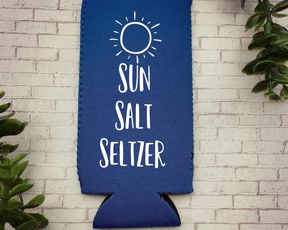 Sun Salt Seltzer Skinny Can Cooler, Sun Salt Seltzer Slim Can Cooler, Summer Skinny Can Cooler