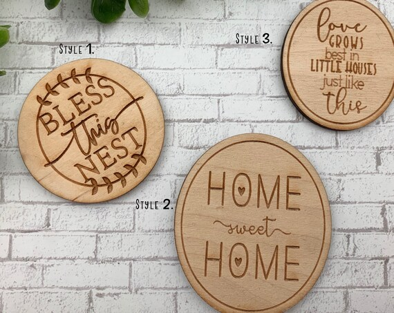 Bless This Nest, Home Sweet Home, Love Grows Magnet