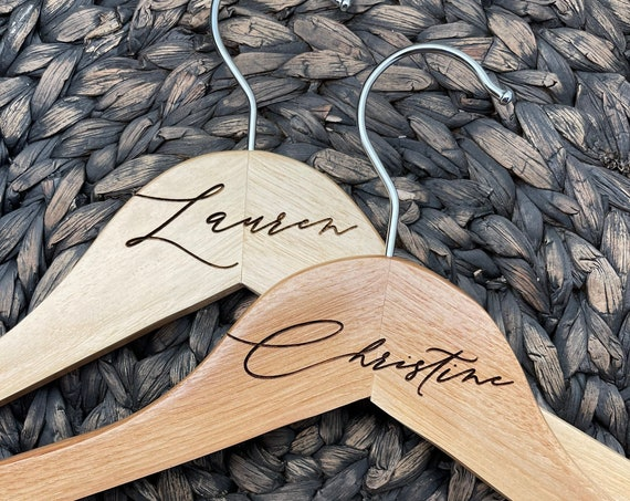 Engraved Name Hanger, Engraved Wooden Hanger, Personalized Hanger