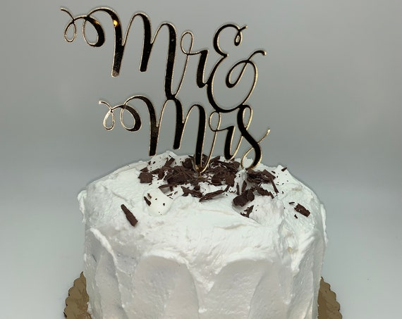 Mr. And Mrs. Cake Topper, Couple Cake Topper, Wedding Cake Topper