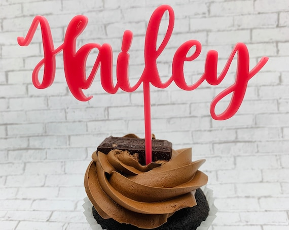 Personalized Cupcake Topper, Name Cupcake Topper