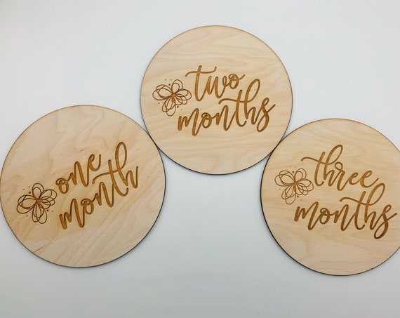 Custom Baby Milestone Markers, Monthly Milestone Circles