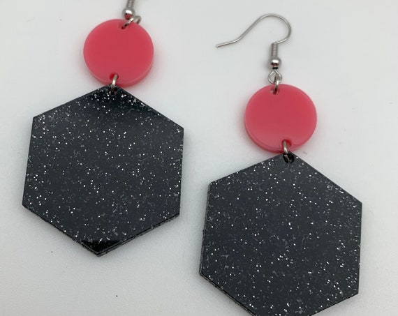 Hex Dangle Earrings