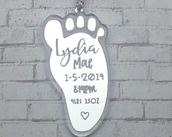 Personalized Baby's Footprint Ornament