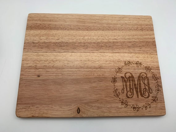 Floral Monogram Cutting Board