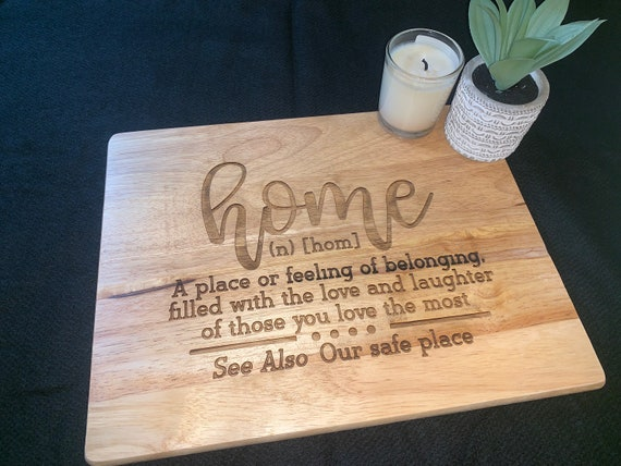 Home Definition  - Cutting Board - Perfect for Real Estate Agent or REALTOR housewarming gift