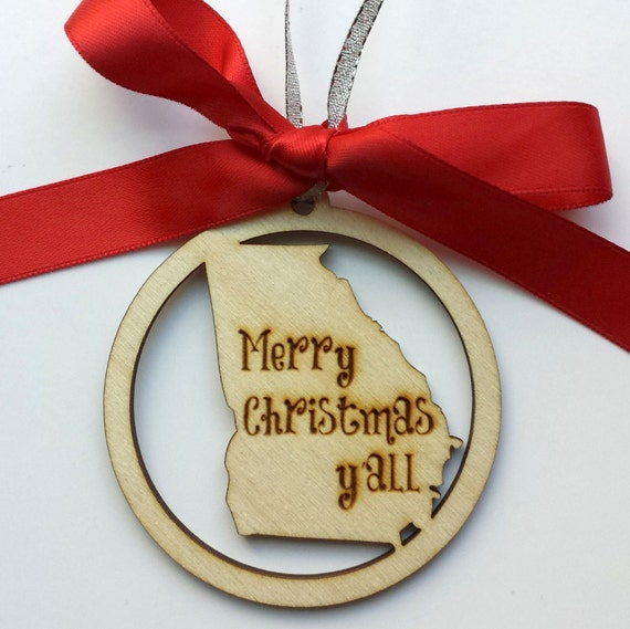 ANY State Merry Christmas Y'all Ornament