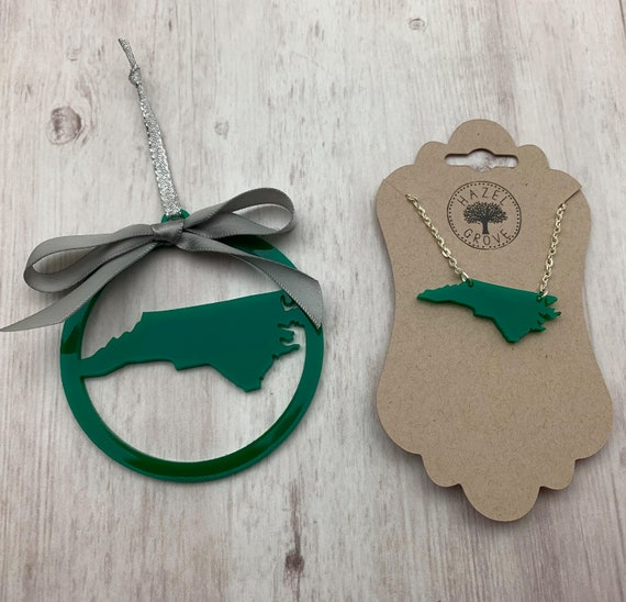 Gift Set: State Ornament and Necklace