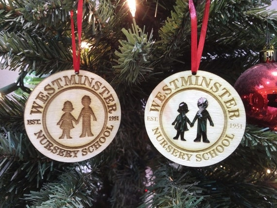 Custom Corporate Personalized Engraved Ornaments.  We can take your logo and turn it into a Christmas Ornament - Corporate Gift