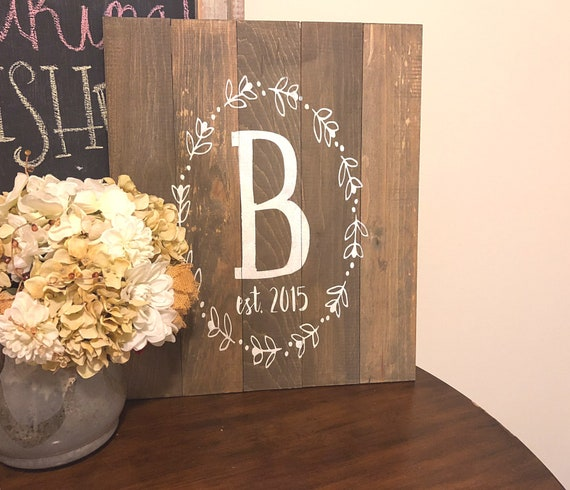 Family Name Sign, Pallet Sign, Last Name, Established Date, Rustic Custom Name, Personalized Gift Idea, Wedding Gift, Anniversary Gift,