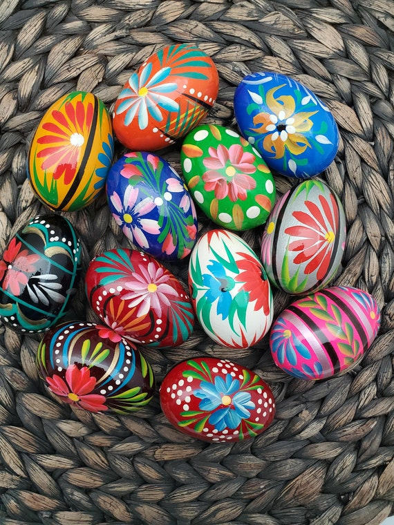 Handpainted Polish Easter Eggs, Pisanki Eggs