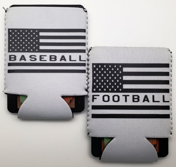 Baseball, Football or any Sport Patriotic Can Cooler - Perfect for the sports fan in your life!