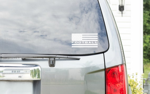 Football Vinyl - American Flag - Perfect for your car, tumber, waterbottle, laptop, tablet, notebook and more!