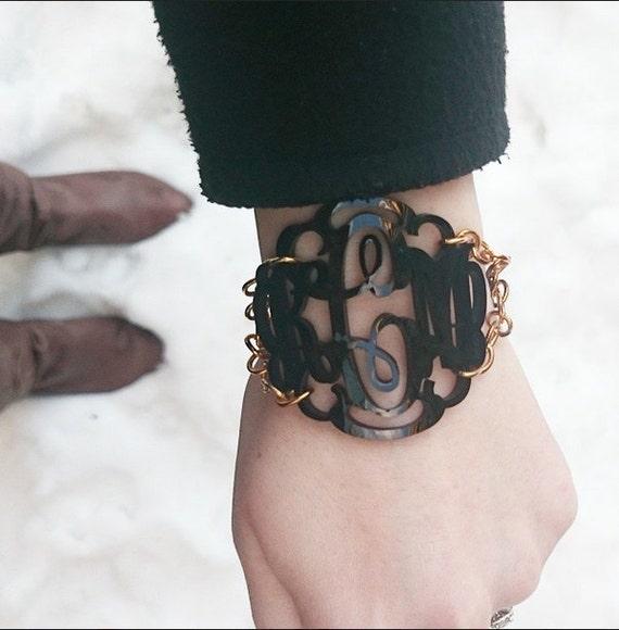 Large Vine Monogram Bracelet