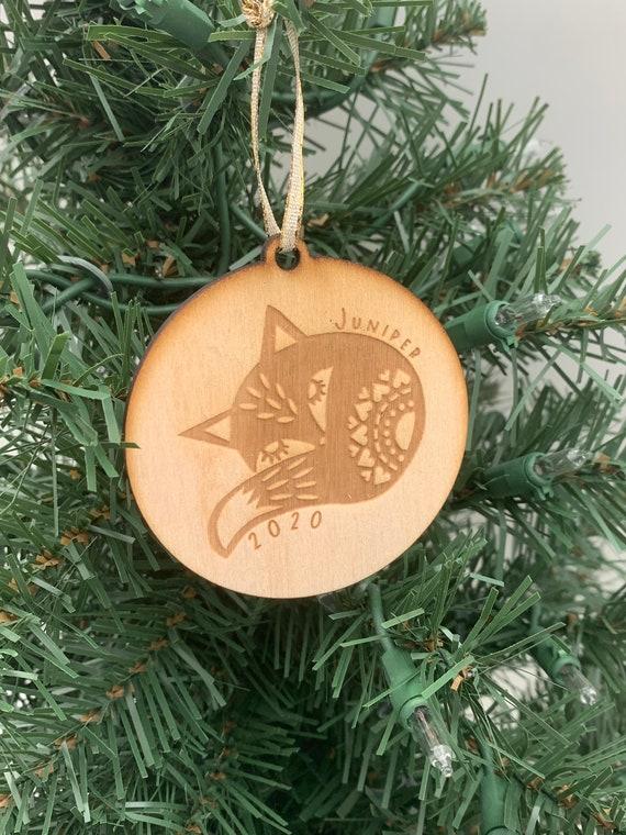 Baby Fox Ornament, Sleeping Fox Ornament, Nordic Fox