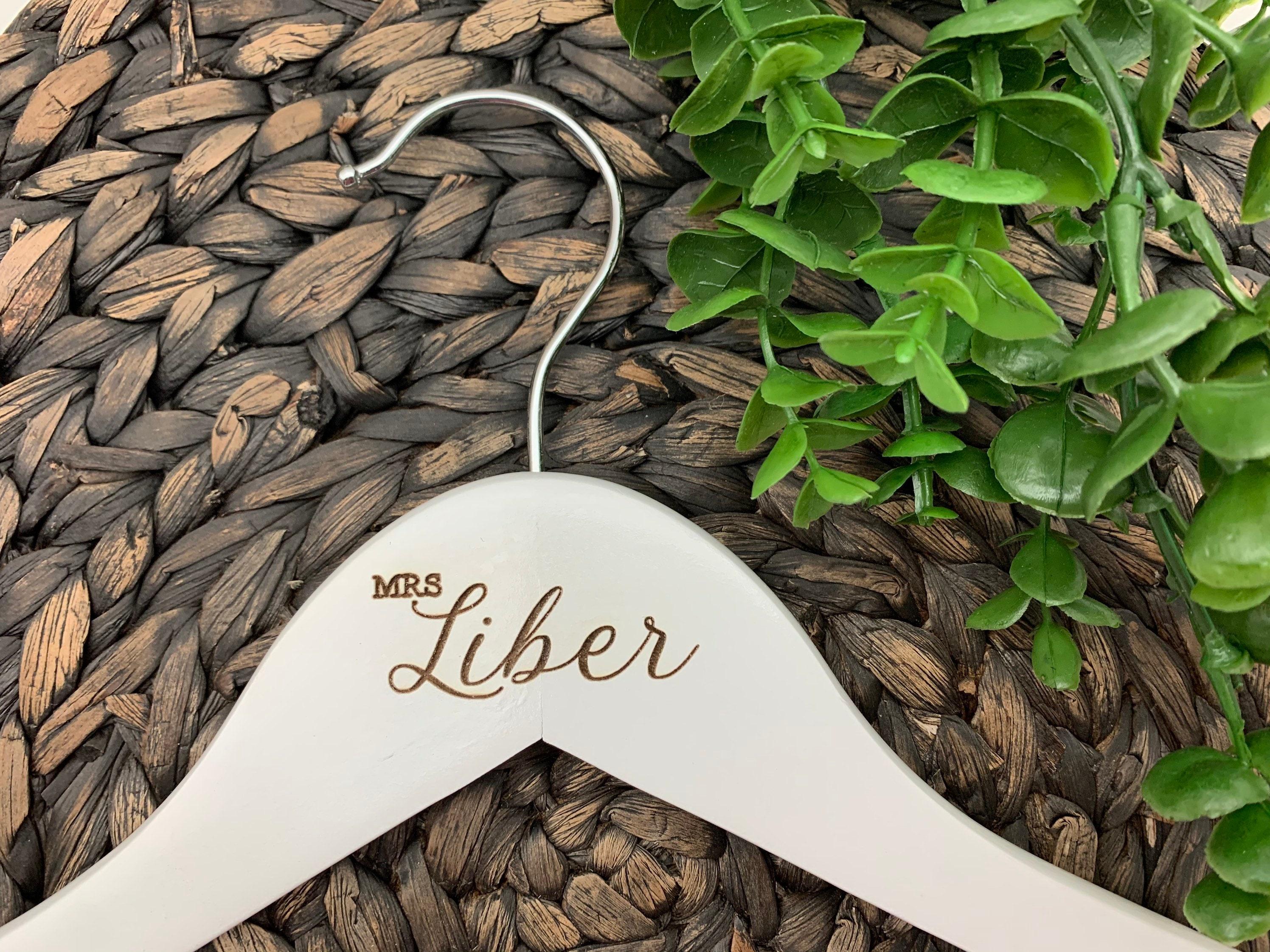 Bride ad Groom Engraved Hangers Personalized Wedding Dress Hanger Wedding Hanger or Mr Mrs Engraved Hanger