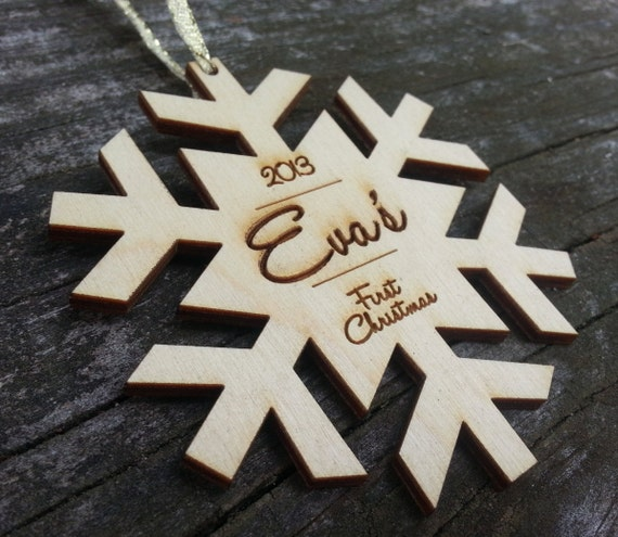 """Personalized """"Baby's First Christmas"""" Ornament"""
