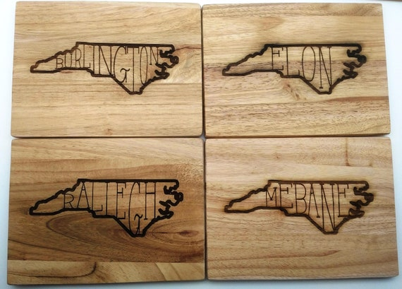 State Love City Wood Cutting Board: Small, Medium, Large, Bamboo and Hardwood