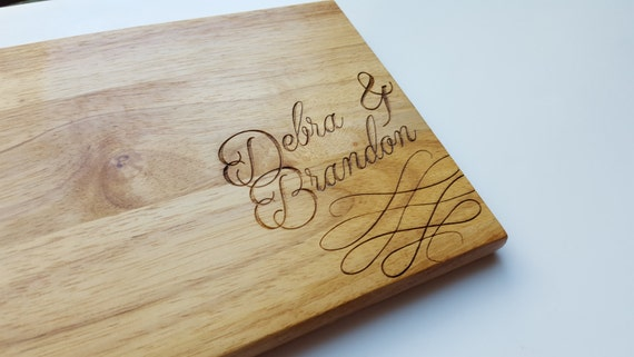 Ampersand Custom Engraved Cutting Board - Multiple Sizes!