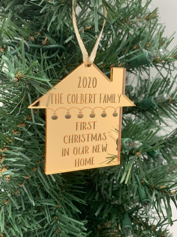 Our First Christmas in our new Home Christmas Ornament.  Personalized Christmas Ornament to remember when you moved into you home.
