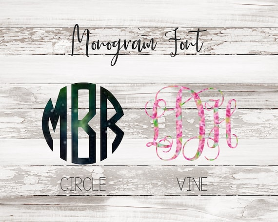 Monogram Decal/Vinyl Decal/Car Decal/Laptop Decal/Tumbler Decal/Personalized Decal/Bridesmaid Gift/Gift for Women/Lilly Pullitzer Decal