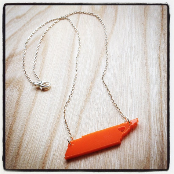 Personalize your own! Tennessee (or any state) necklace